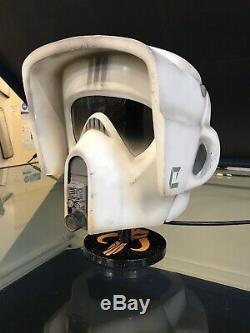 Star wars Biker Scout trooper helmet -Full size Custom Painted To The Original