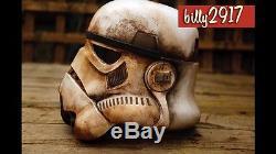 Star wars black series Stormtrooper helmets custom Painted Sandtrooper Weathered