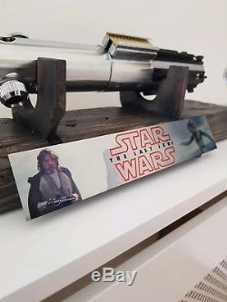 Star wars replica graflex lightsaber korbanth and custom display stand
