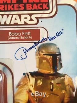 Star wars vintage style custom signed jeremy bulloch boba fett carded figure