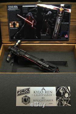 The Jedi Killer Kylo Ren CUSTOM Lightsaber STAR WARS FORCE AWAKENS light saber