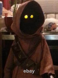 Two Star Wars Life Size Custom Jawa Props with voice chips