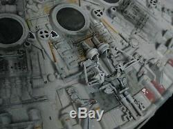 Vintage Kenner Star Wars Custom Detailed LED Weathered Millennium Falcon Prop