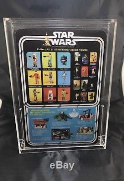 Vintage Star Wars 1979 Boba Fett Action Figure MOC on Custom 21 Back With Case