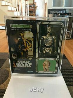 Vintage Star Wars C-3PO 12 inch LSAF sealed MISB with custom acrylic case