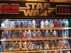 Vintage Star Wars Collection With Custom Made Cabinet