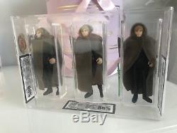 Vintage Star Wars Custom Triple Cased Luke Jedi H. K, Taiwan, no Coo Ukg 90 Gold
