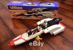 Vintage Star Wars Custom Unproduced Droids White Witch Vehicle + Box & Figures