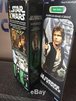 Vintage Star Wars La Guerre Des Etoiles 12 Han Solo MIB Custom Acrylic Case