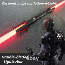 YDD Single Metal Handle Double-bladed Lightsaber Custom(Lamp/Length/Sound)